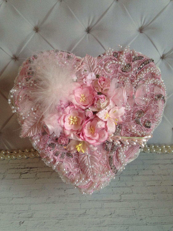 Handmade wedding box, shabby chic box, birthday box, wedding gift ...