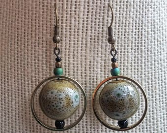 orbital earrings, grey
