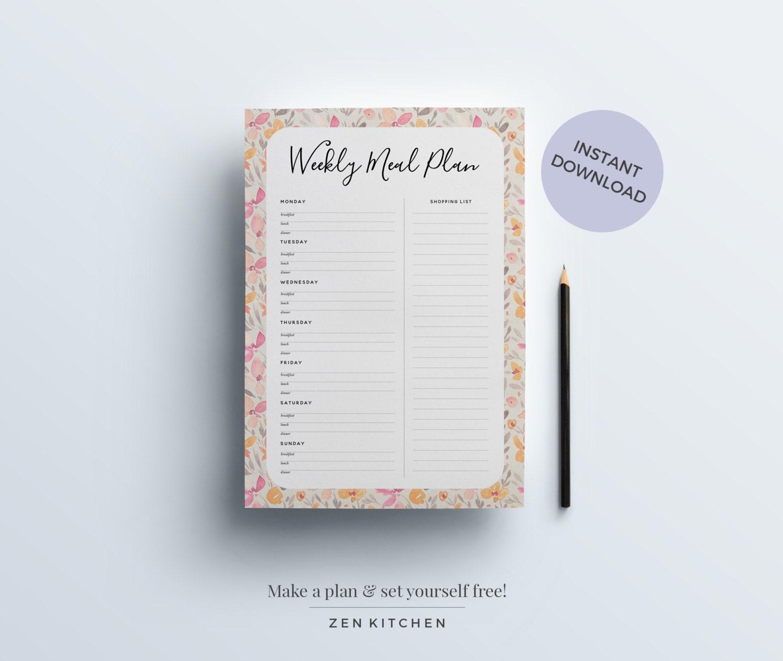 Comida Kit de planificación: Planificadores semanales Diario
