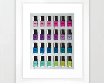 Nail polish Pantone color, Print of Original painting by Miart