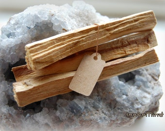 FREE Shipping! Bundle of  Palo Santo (Bursera Graveolens) Holy Wood  THREE Smudge sticks for clearing cleansing