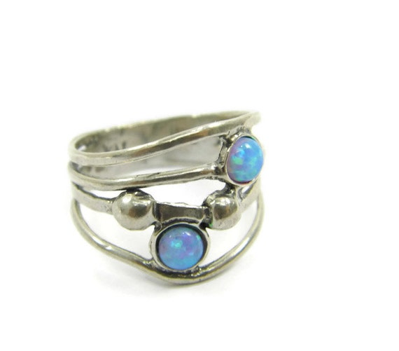 Items Similar To Opal Ring Exquisite Braided Opal: Items Similar To Silver Opal Ring. Double Sterling Silver