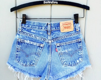 ALL SIZES Women Levi High Waisted Denim Shorts - Vinatge - small medium large extra large extra extra large