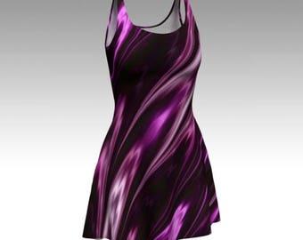 Purple Dress, Amethyst Dress, Flare Dress, Skater Dress, Fit and Flare Dress, Bodycon Dress, Fitted Dress, Swirl Dress, Gemstone Dress, Cool