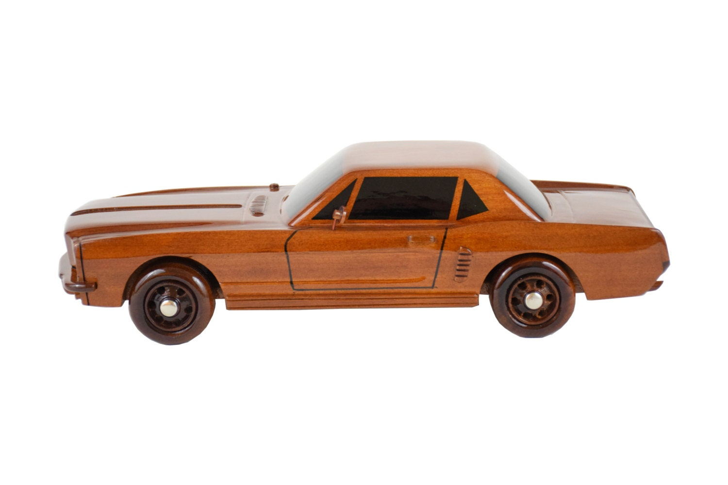 1964 Ford Mustang Wooden Car Model Collectibles Home