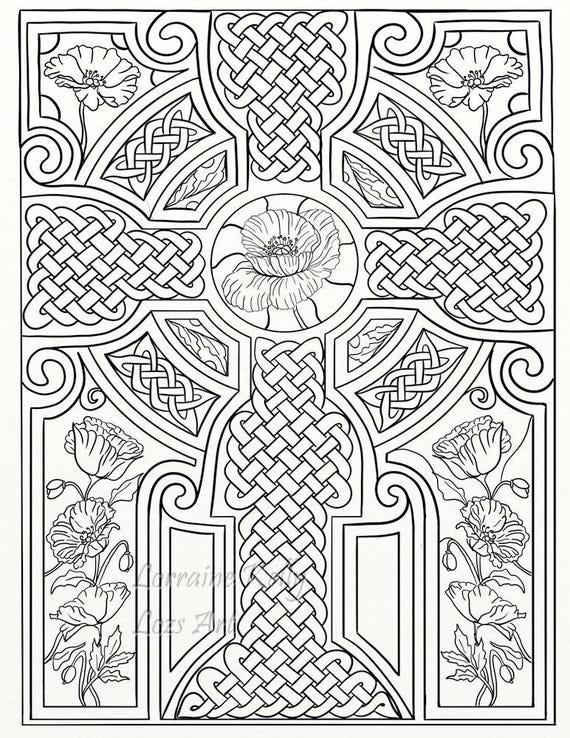 10 X Celtic Knots Mandala Adult Coloring Pages Instant Pdf