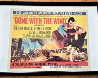 Vintage film poster Gone with the Wind 1957