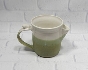 Water Pitcher - Kitchen Utensil Holder - Ceramic Pitcher - Pottery Jug - Barware