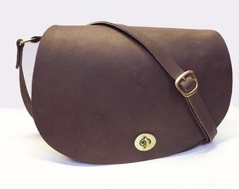 Cartridge Bag Leather Cartridge Bag Leather Hip Bag Brown Cartridge Bag