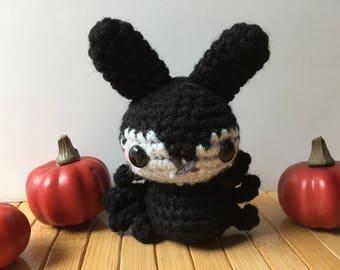Spider Moon Bun - Bunny Rabbit Amigurumi - October Create a Day Challenge Doll