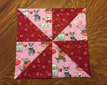 "Puppy Valentine Candle Matt Seasonal Table Decor 12.5"" x 12.5"" Spring Table Top"