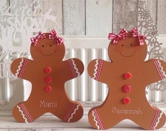 Large Personalsed Gingerbread Man or Gingerbread Girl