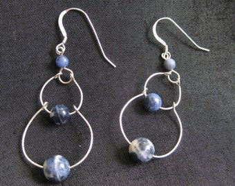Progression. Sodalite Earrings