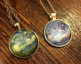 Doctor Who TARDIS Starry Night Necklace