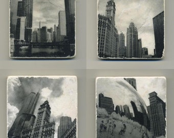 Chicago Architecture Series - 4 Original Coasters