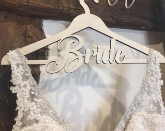 Wedding Dress Hanger, Wooden Bride Hanger