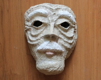 Old Man Mask | Paper Mache | Costume
