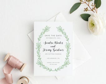 Printable Save The Date Printable - Botanical Garden Wedding - Ready to Print PDF - Wedding Invites - Letter or A4 Size (Item code: P921)