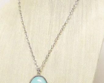 "25"" ""Serenity"" Pendant Necklace #21182 blue sky pendant"