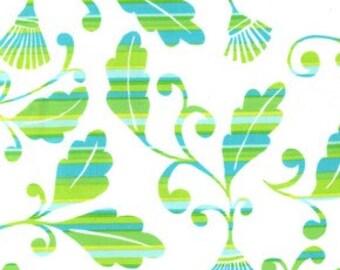 Dena Designs Monaco Striped Leaves Color Green