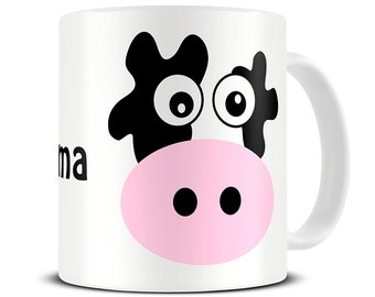 Personalised Mad Cow Coffee Mug - cow gifts - personalized mug for mom - MG088