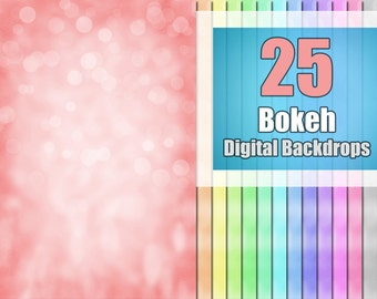 Bokeh Overlay, Digital Background Backdrop, Photoshop Texture
