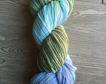 CLEARANCE - Hand dyed sport weight yarn - Monet
