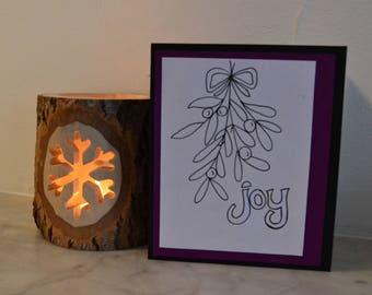Christmas mistletoe handmade cards