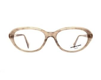 oval brown vintage glasses - quality womens eyeglasses frames - Antonio Miro designer eyewear - Mod vintage eye glasses store