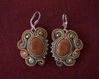 Handmade soutache earrings