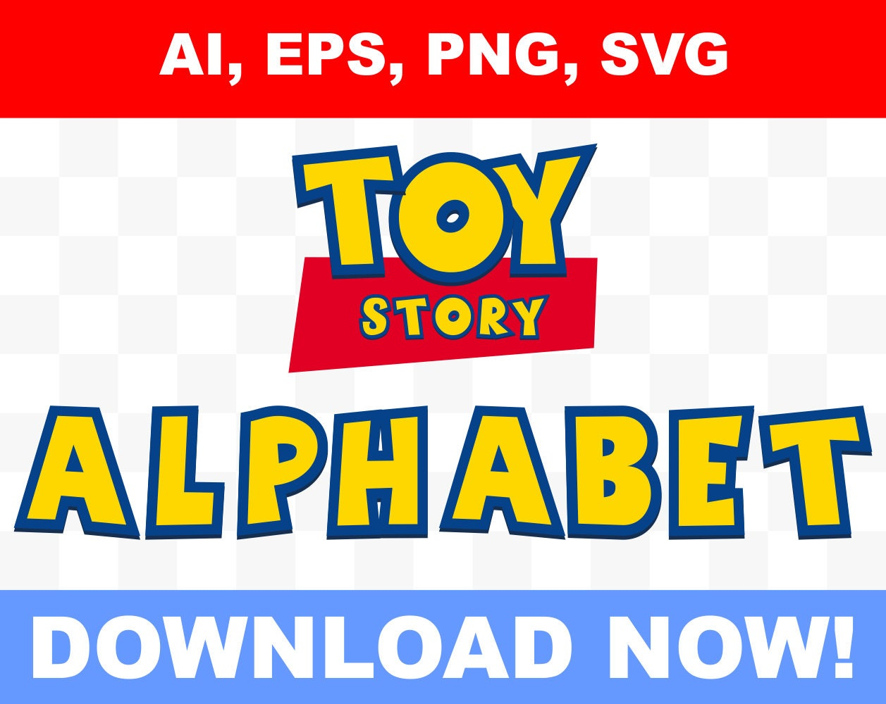 Toy Story Alphabet Number And Letters Toy Story Logo