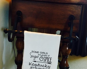 Flour Sack Tea Towel/Bar Towel, Kentucky Bourbon housewarming, Bar decor, Kitchen decor