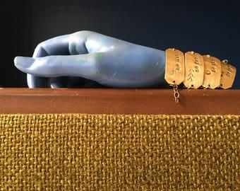 Be Kind/Brave/Free/Wild hand-stamped brass bracelet