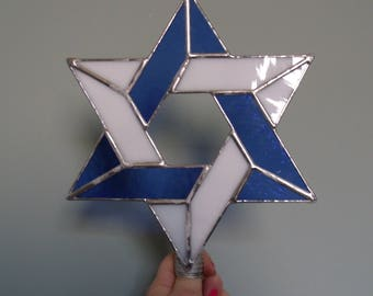 Blue and White Large Interfaith Christmas Tree Topper, Decoration for Combined Religions and Blended Families