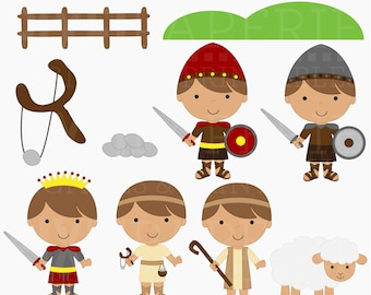 christian clipart bible david goliath clip art - David and Goliath Clipart - BUY 2 GET 2 FREE
