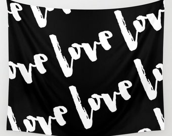 Love Wall Hanging, Wedding Backdrop Curtain for Photo Booth, Bridal Shower Banner, Love Wall Decor, Wedding Table Backdrop Curtain, Custom