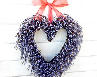 Mother's Day-Mother's Day Gift-Valentines Day Wreath-Wedding Decor-Wedding Heart Wreath-Spring Weddings-Valentine Wreath-Gift for Mom-Gifts