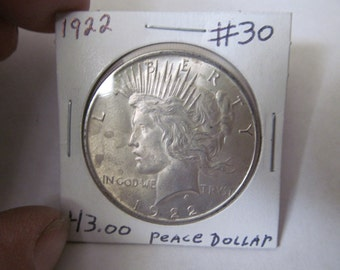 1922 Silver Dollar Antique Coins 1922 Liberty Peace Dollar USA Silver Coins Antique Us Coins Us Currency Rare Coin Collection Coin Collector