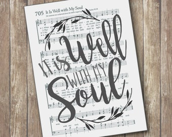 It is Well with my Soul Hymn Wall Art Print