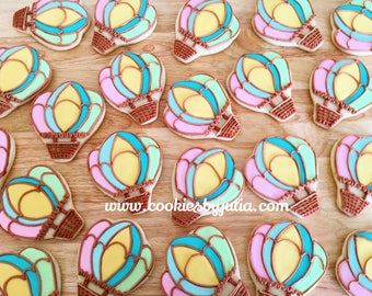 hot air ballon/hot air ballon cookies/cookies/sugar cookies/custom cookies/