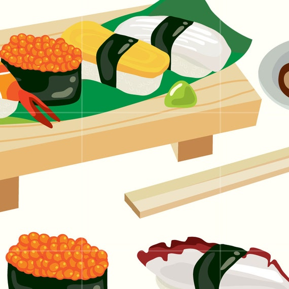 japanese sushi digital vector clip art japan food digital clipart rh etsystudio com sushi clipart images sushi clipart cute