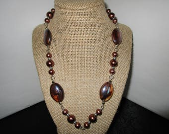 Brown Pearl Necklace