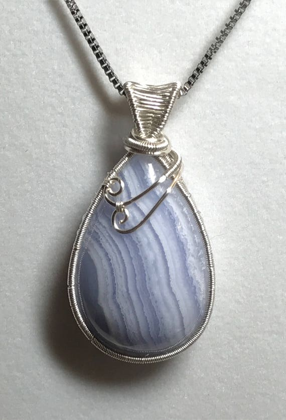 Blue Lace Agate Wire Weave