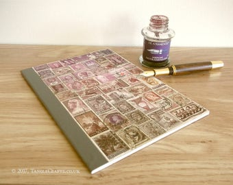 Cocoa Dusk Writing Journal, Boho Collage - One of the 'Lost' Notebooks