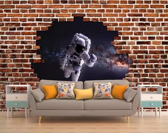 Brick Wallpaper, Space Wallpaper, Brick Photo Wallpaper, Space Photo Wallpaper, Brick Wall Covering, Space Wall Covering, Brick Mural, Space