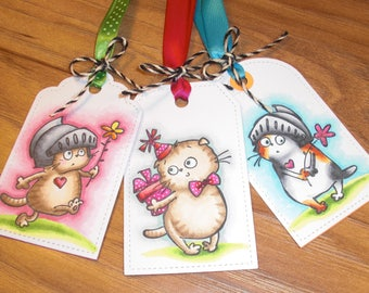 Handmade Gift Tags, set of three