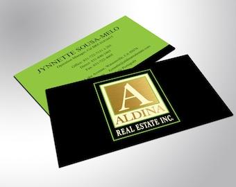 Gold Foil Business Cards, Custom Design
