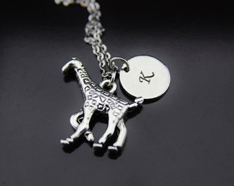 Giraffe Necklace, Silver Giraffe Charm, Animal Charm, Personalized Gift, Gift for Her, Gift for Mom, Best Friend Gift, Coworker Gift