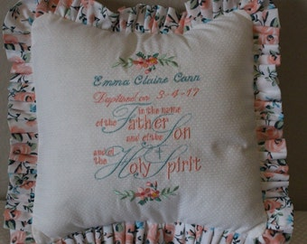 Baptism Pillow personalized