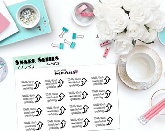 "SNARK SERIES: ""Well, that escalated quickly"" Paper Planner Stickers!"